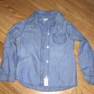 Little girls Jean button up